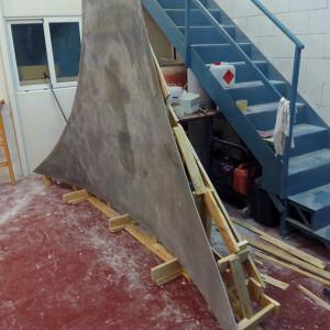 Realización de soportes inertes para pinturas sobre lienzo adosadas a muro (empresa privada)