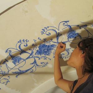 Reintegración en pintura mural (cliente ArteCimbra)