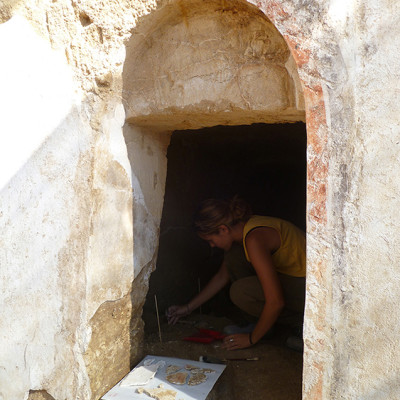 Restauración de pinturas murales. Cultura Etrusca. italia (Institución pública/Univesridad pública)