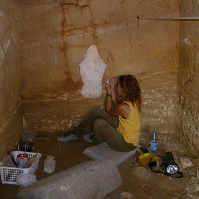 Consolidación de mortero arqueológico. Cultura Etrusca. Italia (Institución pública/Univesridad pública)