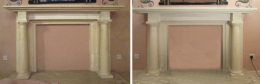 Res(cliente ArteCimbra)tauración de chimeneas. Material pétreo (cliente ArteCimbra)