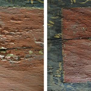 Fijación de la capa pictórica sobre soporte de madera (empresa privada)