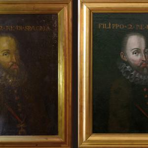 Ejemplo de restauración de pintura sobre lienzo (cliente ArteCimbra)