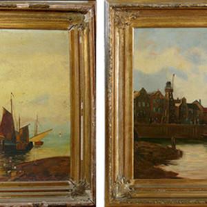 Ejemplo de restauración pintura sobre lienzo (cliente ArteCimbra)