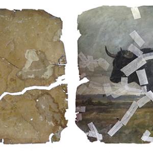 Restauración de óleo sobre papel (cliente ArteCimbra)