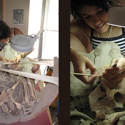 Conservación de restos humanos. Cultura del Argar. España (Universidad)